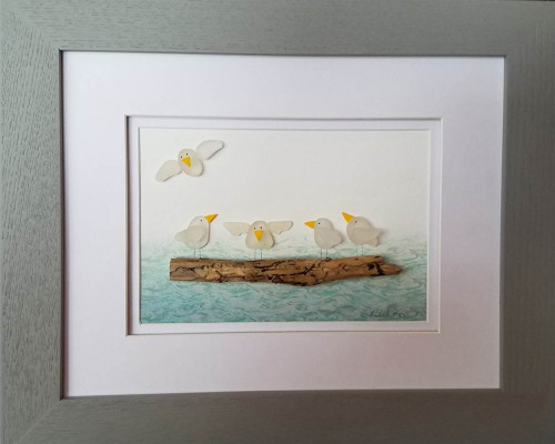Gulls on a Log
