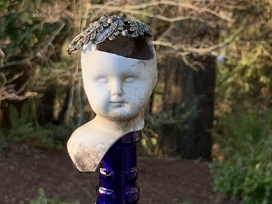 excavated doll head detail